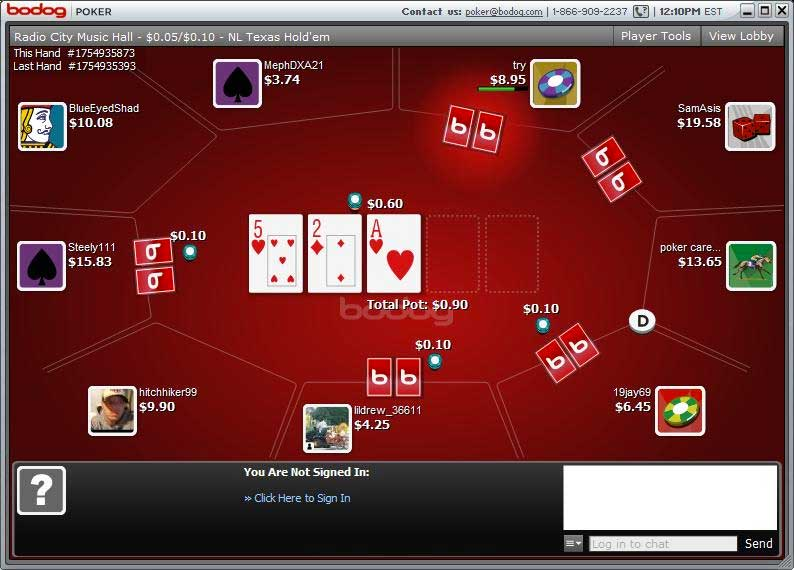 Is bodog poker safe play san manuel online